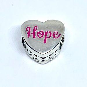 Pandora Hope Ribbon Charm